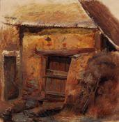 Wilhelm Heinrich Schneider, Bäuerliche Hütte. Wohl 2nd half 19th cent.<b