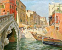 """Hermann Kohlmann """"Ponte delle Guglie"""" (Venedig). 1937."""