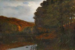 Cornelius Gustav Gurlitt, Abendliche Seenlandschaft. 1885.