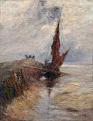 """Emily Lengnick """"Ebbe"""" (Fischer beim Entladen eines Bootes bei Yerseke). 1902."""