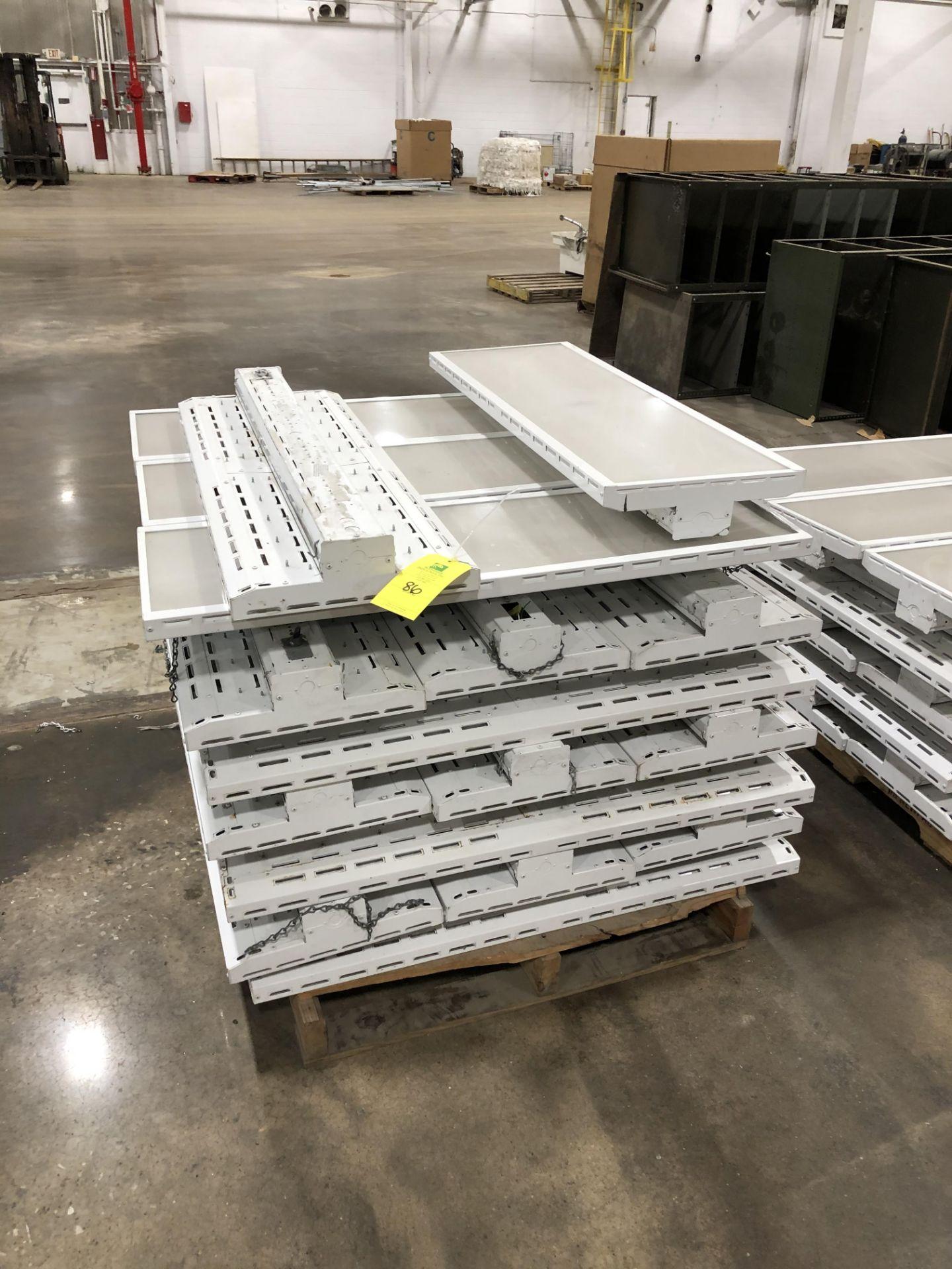 Lot 86 - Pallet of Commercial LED Warehouse lights, Rigging/ Loading Fee: $25