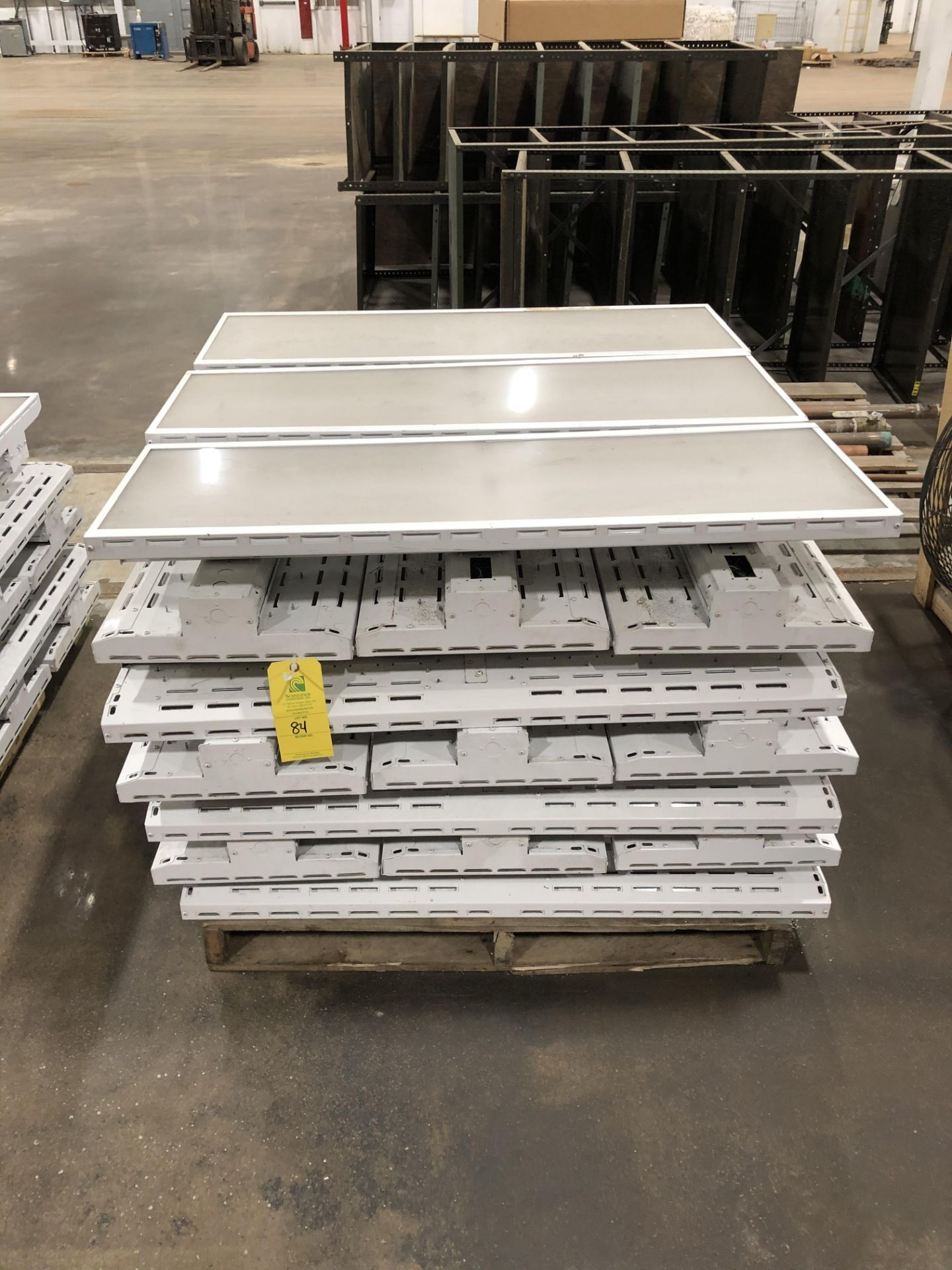 Lot 84 - Pallet of Commercial LED Warehouse lights, Rigging/ Loading Fee: $25