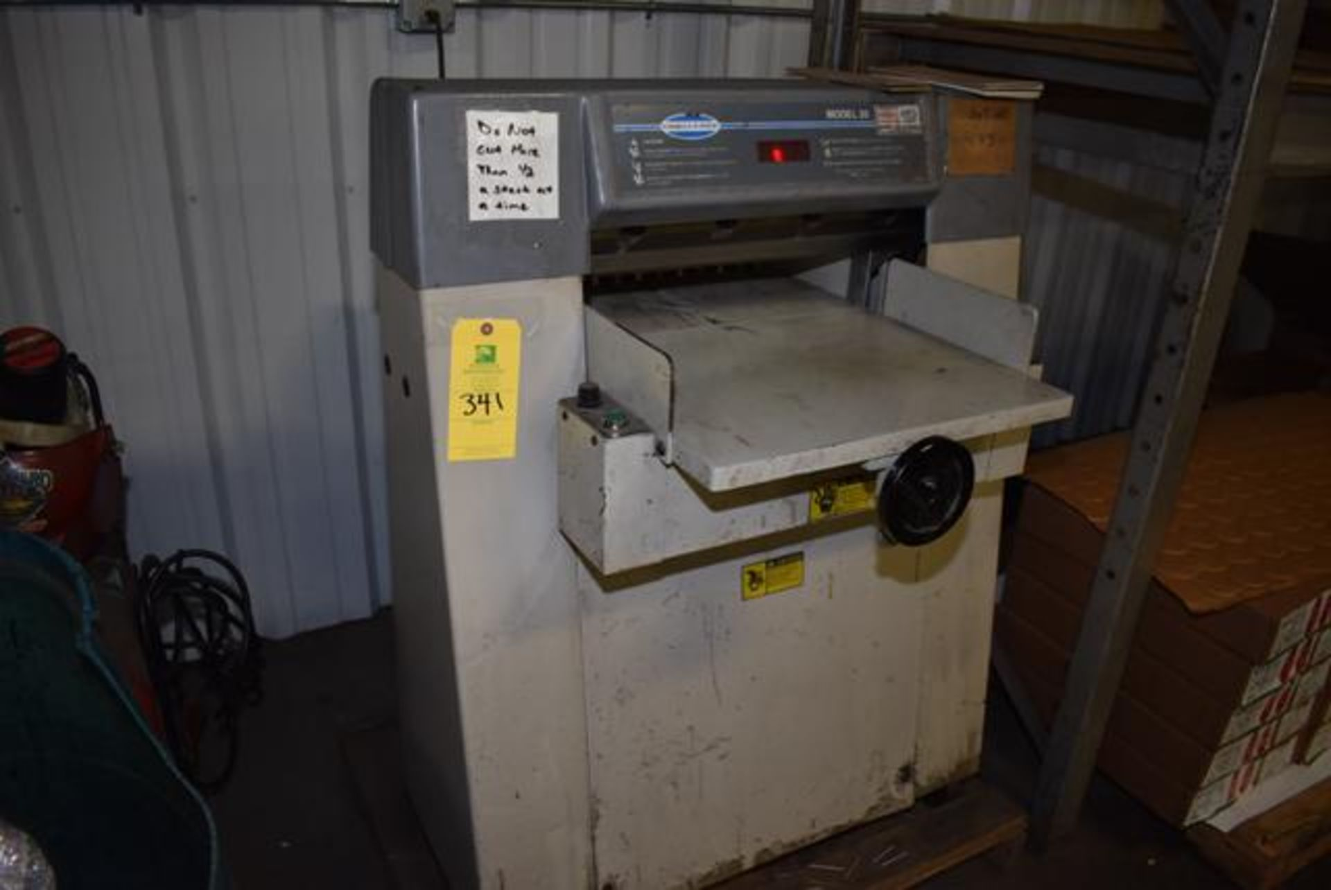 Lot 341 - ( Late Delivery Item Expected Availability Mid May) Challenge Model #20 Paper Cutter, Loading Fee: $