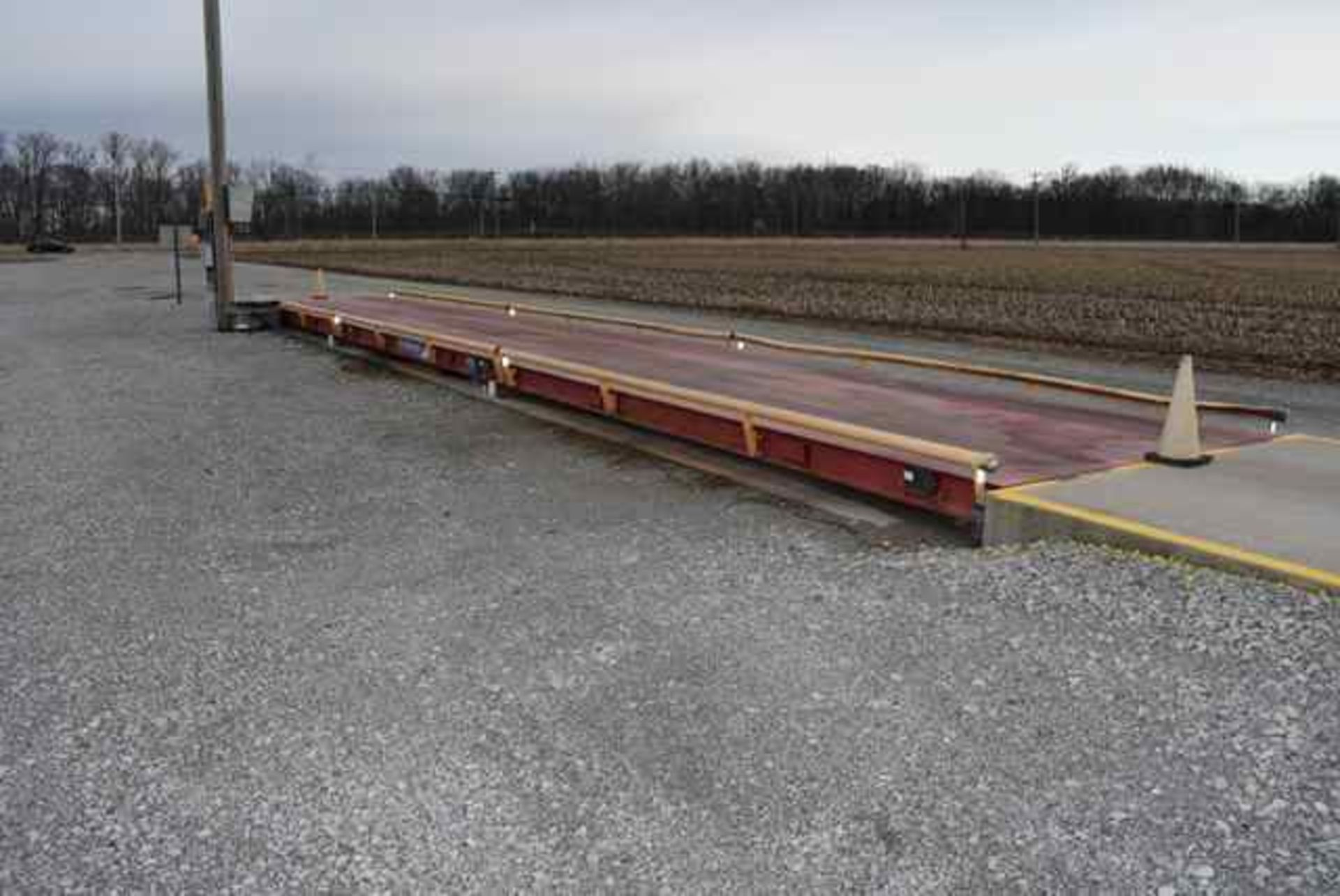 Lot 616 - Fairbanks above ground truck scale, model PLT-6020-HVA09, 70'X10' platform, 120,000# capacity, 4-