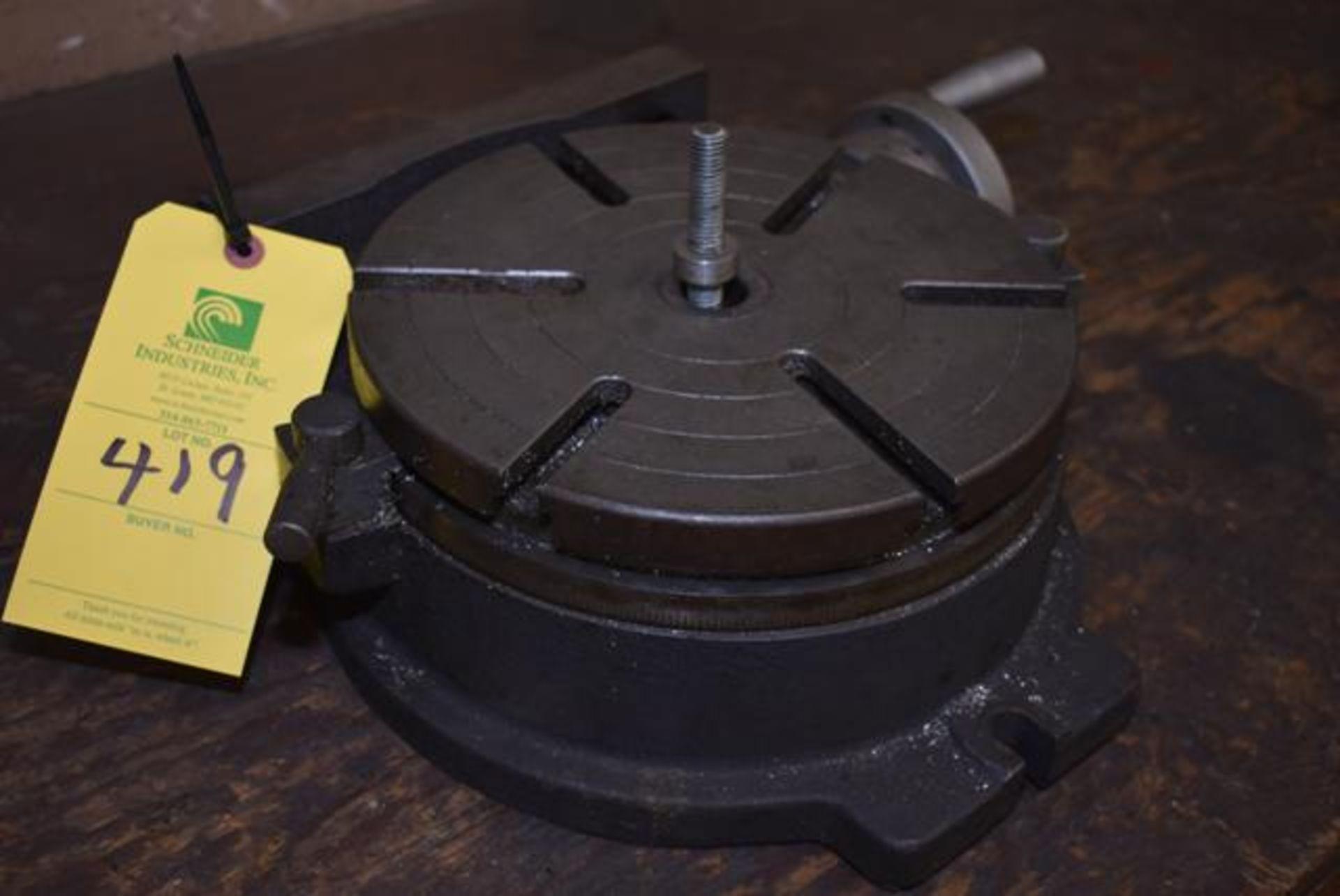 "Lot 419 - Homge 10"" Diameter Rotary Table, Loading Fee: $15"