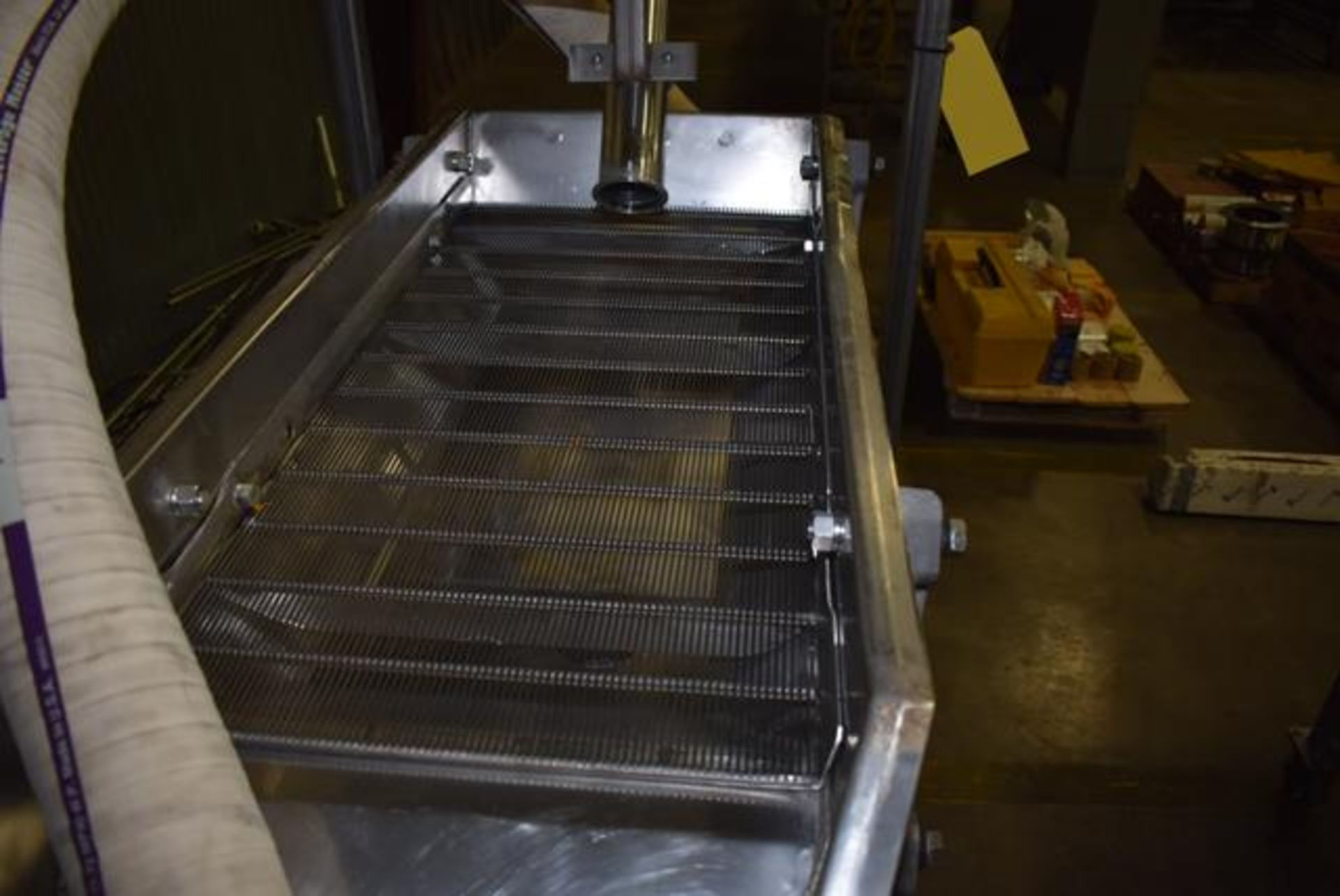 """Lot 220 - Commercial 22""""W x 38""""L Stainless Steel Dewatering Screen and Ajax Shaker, Loading Fee: $75"""