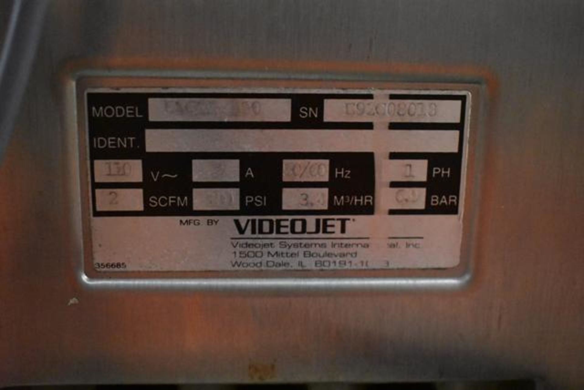 Lot 217 - VideoJet Excel Series 100 Includes SS Stand, Loading Fee: $50