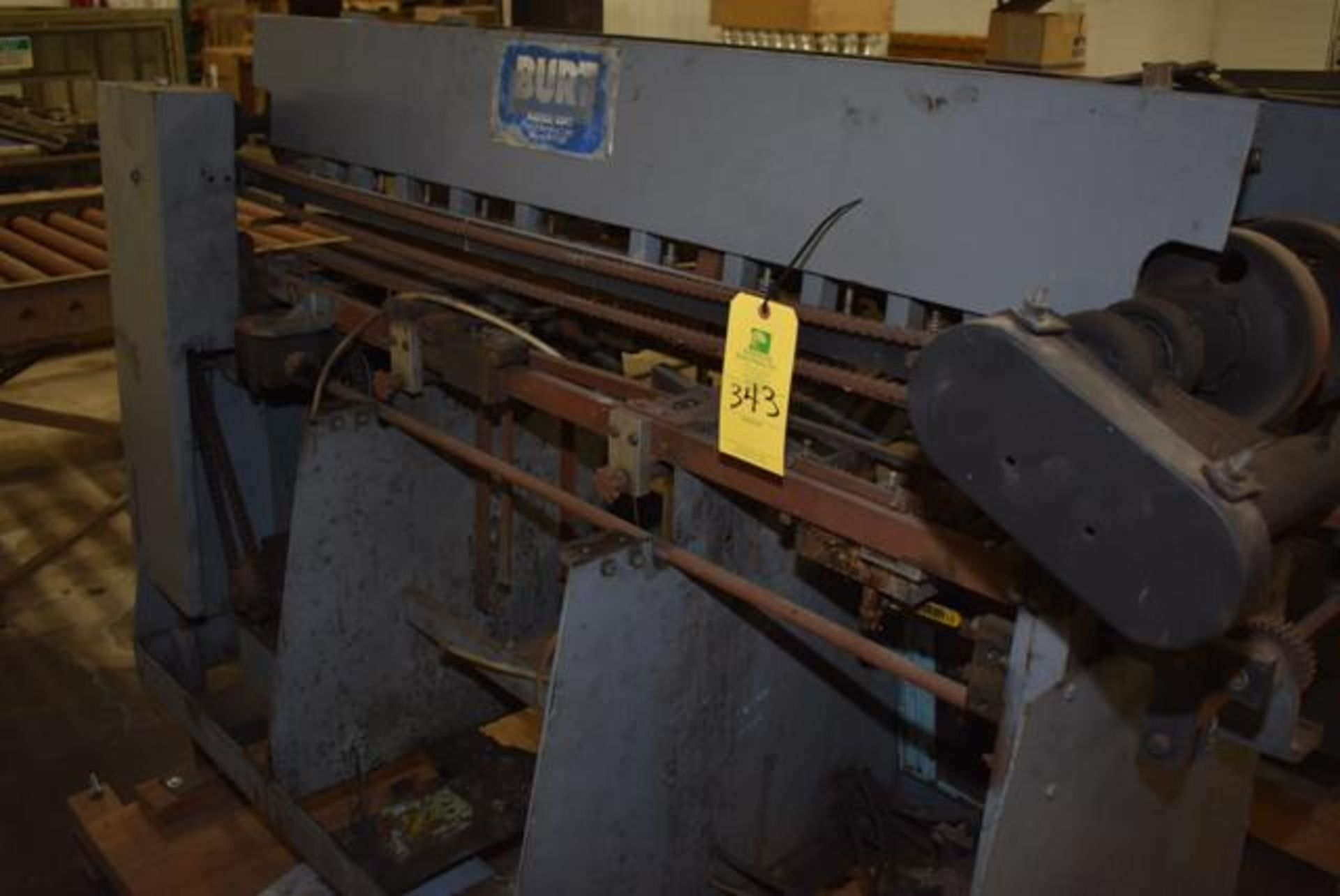 Lot 343 - ( Late Delivery Item Expected Availability Mid May) Burt Model #408D Labeller, S/N 80249,3 Parts & C