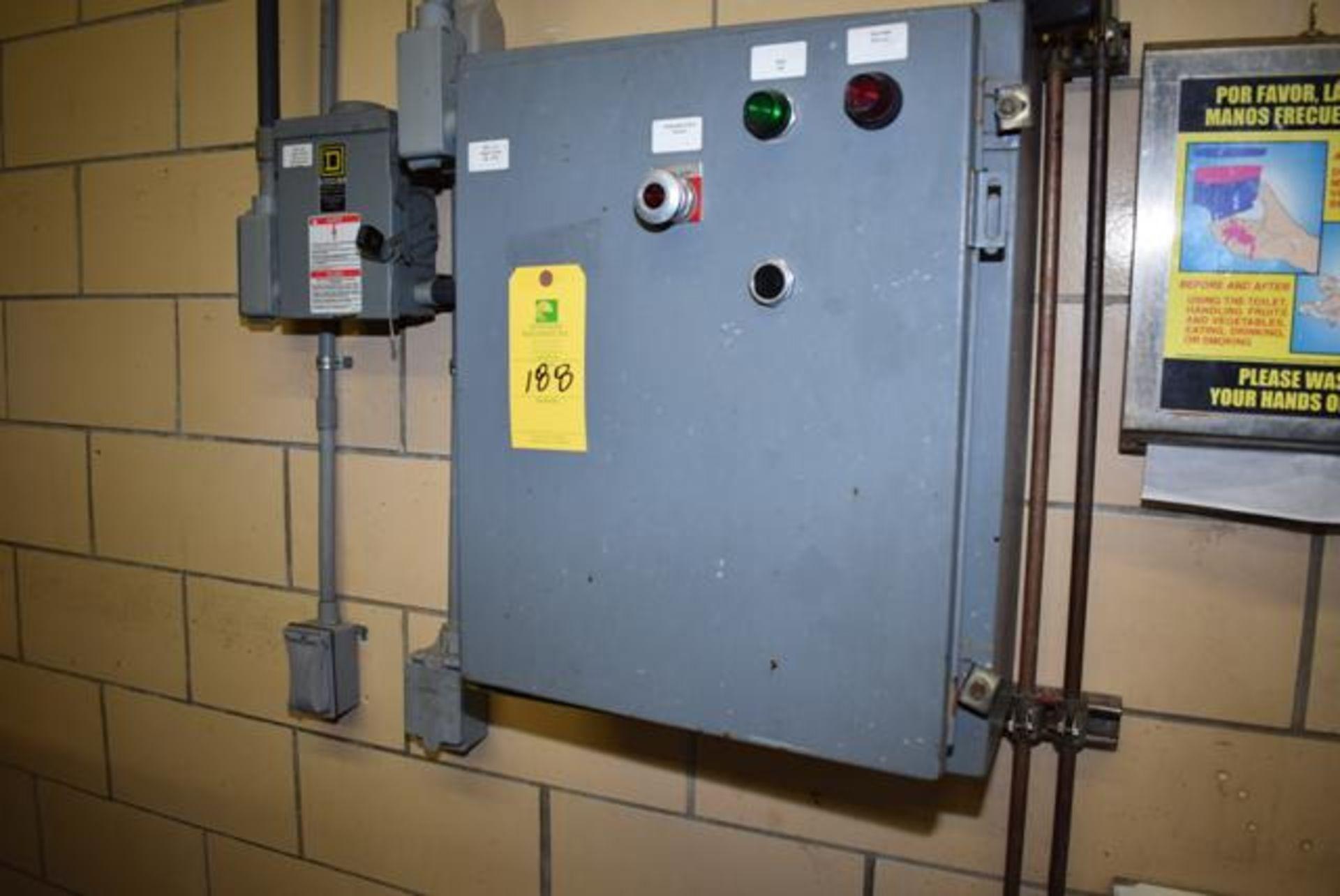 Lot 188 - Homogenizer Control Panel with Allen Bradley PLC Single Door Panel Box, Loading Fee: $100