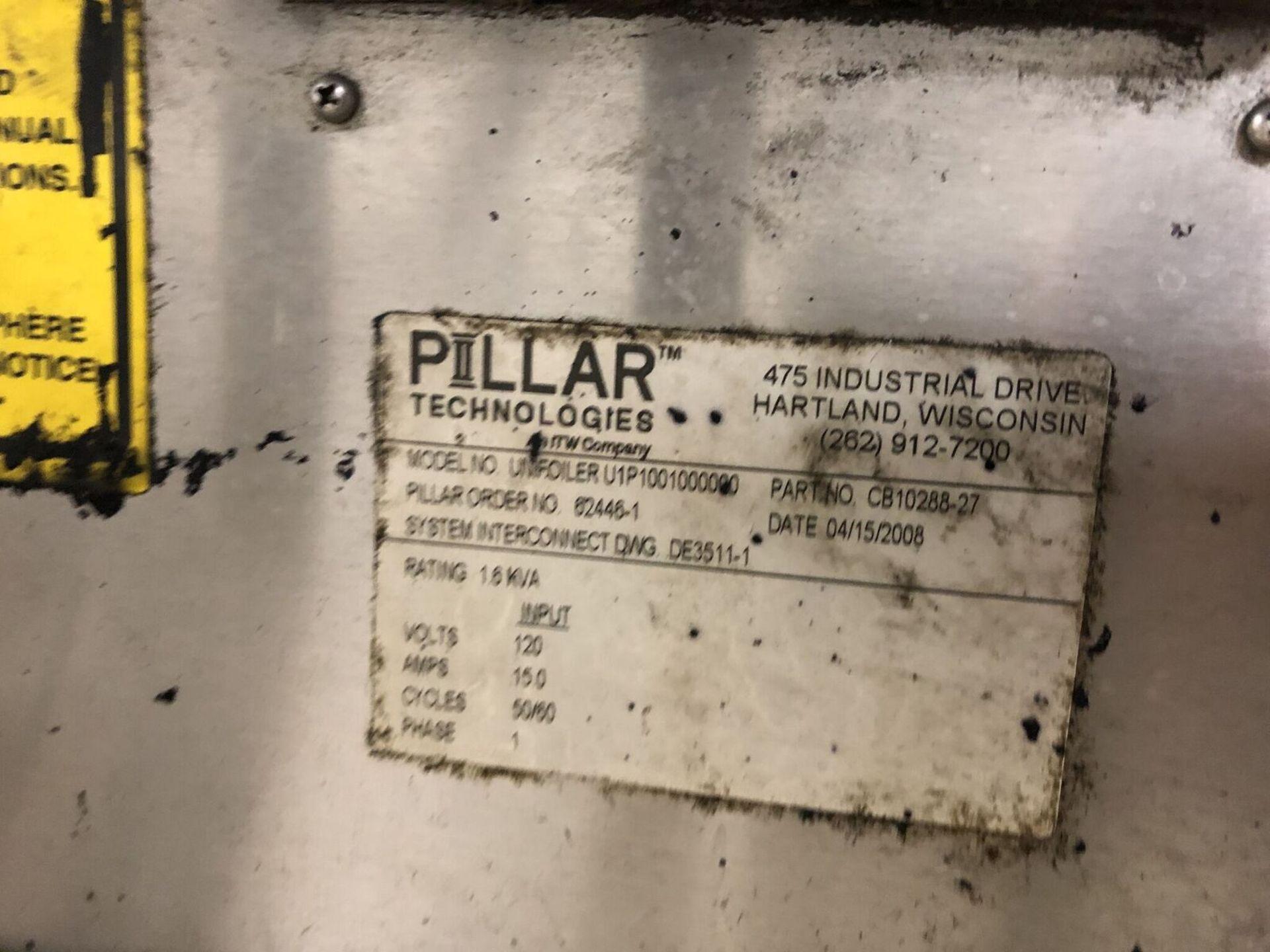 Lot 50 - Pillar Technologies Unifoiler Cap Sealing Machine, Model #U1P1001000000, DOM April 2009