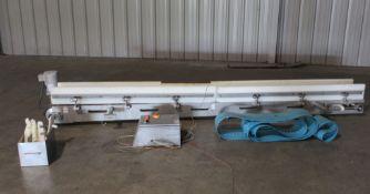 "Kofab Scale Infeed Conveyor, 12"" wide x 144"" long, Serial# 100000000141, Item# mtlkofsic0141,"