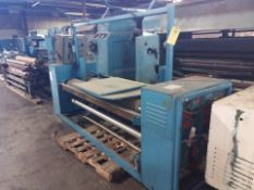 Krantz Fabric Roll Up Machine, 5 Hp, 115/208-230 Volts, 7.4 Amps, 60 HZ, Model # INSP.SW, S/N #