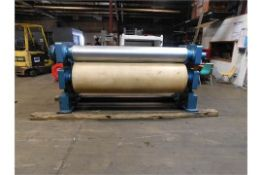 """Kuester Pad. Working Width: 87"""", Steel to rubber, pressurized rubber roll, hydraulic. Good"""
