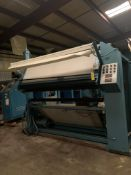 """Inspection Machine Table Work 84"""" Wide and Unwinder Conveyor Belt. For special fabric. PLC Device to"""