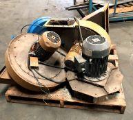 Blowers, 230 / 480 Volts. 3400 RPM, Qty 4, Rigging Fee: $30