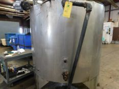 Stainless Steel Tank, 58.25 inches Diameter, 48.5 inches Height, Agitator/Mixer, Insulated,