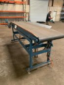 """Motorized Conveyor with Pneumatic Piston Lift, 9' Long x 24"""" Wide, Rigging Fee: $25"""
