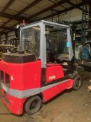 Yale Forklift LP Gas. 10,000 lbs. Model GLC100 MGNSAV090. Serial B818D01566S. Solid Tires, Rigging