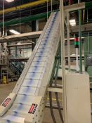 (Located in Burlington WI) Sig Cleated Belt Incline Conveyor Type Belt. RIGGING FEE: $2400