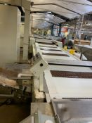 (Located in Burlington WI) Sapal 5 Lane Feeding Conveyor Type AA-15 for Flow. RIGGING FEE: $41,500