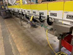 (Located in Burlington WI) Stainless Frame Case Conveyor Belted. RIGGING FEE: $2300