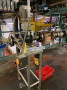 (Located in Burlington WI) Stainless Stand with Eriez Magnet and Valve. RIGGING FEE: $1900