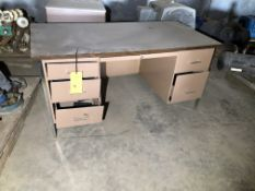 (2) Desk with Cabinets
