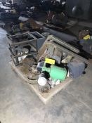 (2) Pallets with misc. spare parts, including Motors, Dayton Blowers & Pumps