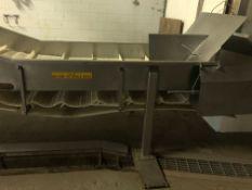 Incline Transfer Conveyor, Approx. 2ft Wide Belt