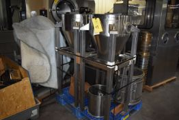 Stainless Steel (2) Powder Hoppers and Dump Station, Palletized