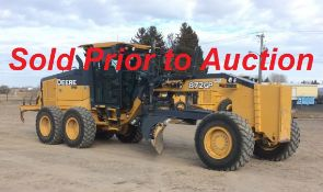 SOLD Prior to Auction -- NO LONGER AVAILABLE FOR SALE -- John Deere Grader, Year 2013, Model: 872GP
