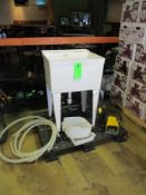 Mold sink with foot operated pump, 22 in x 17 in x 12 in deep ***Auctioneer Note*** -- $25 Removal &