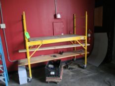 LOT OF 2, multipurpose utility scaffold, 30 in x 72 in x 72 in hgt and furniture dolly ***Auctioneer