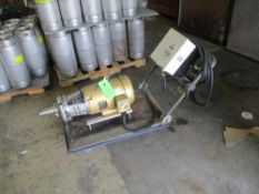 Beer pump cart with Leason VFD controller, 7.5 hp motor, 208/230/460 vac, 3520 rpm ***Auctioneer