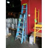 LOT OF 2 fiberglass folding ladder, 1- 6 ft and 1- 8ft ***Auctioneer Note*** -- $15 Removal &