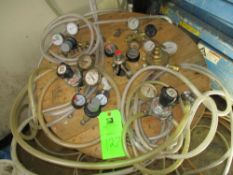 LOT OF 7 regulator, brass hose barb, vinyl hose ***Auctioneer Note*** -- $50 Removal & Loading Fee