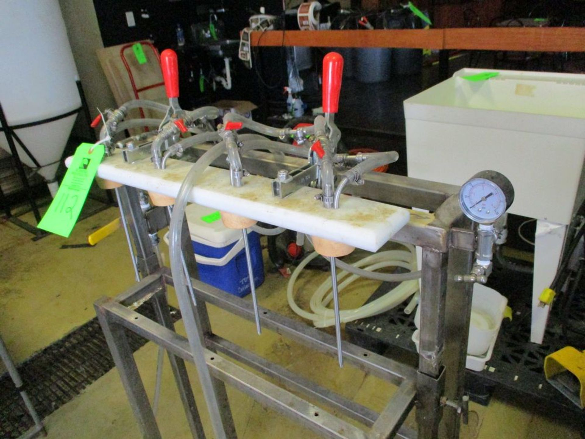 Manual 4 station stainless steel bottle filler ***Auctioneer Note*** -- $25 Removal & Loading Fee - Image 2 of 2
