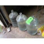 LOT OF 3 glass 5 gallon containers ***Auctioneer Note*** -- $25 Removal & Loading Fee will be