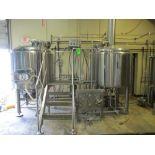Zhongde Fermentation Technology Co 7BBL BREW HOUSE with Lauter tun , kettle, hot water tub,