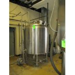 Glacier hot water tank with pump, 52 IN dia x 66 in hgt with 24 in legs ***Auctioneer Note*** -- $
