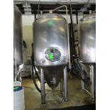 Glacier 14 bbl fermentation tank, serial GTV-1066, MW-SHDLSS-580-480-SS304, 56 in dia x 122 in