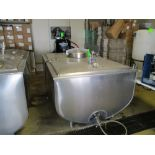 Sunset milk cooler tank with manway and mounted thermometer, model MC415-PX, serial 40MC268, 83 in x
