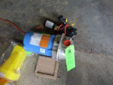 LOT OF 2 pumps, 1- Gould 1 hp, 208/230/460 vac, 3450 rpm, model NPE 1-1/4x1-1/2x6, 1- Flojet