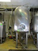 Glacier 21 bbl fermentation tank, serial GTV-1011, MW-SHDLSS-580-480-SS304, 56 in dia x 138 in