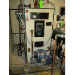 Columbia boiler w Power Flame JR15A-10-399 nat. gas burner and condensing tank , model L24, #2 oil