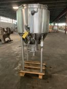 Feldmeier 90 Gallon Jacketed Stainless Steel Cone Bottom Tank S/N S05899 National Board 1629