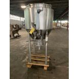 Feldmeier 90 Gallon Jacketed Stainless Steel Cone Bottom Tank S/N S05899 National Board 1629