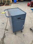 Metal Cabinet on Casters (Located in Oelwein, IA) (Rigging & Loading: $25)