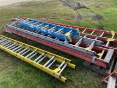 Exetension Ladder, 28', (Rigging & Loading: $25) (Located in Oelwein, IA)