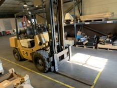 Located in Canon City CO: TCM Forklift, 8,000lbs, lp, approx 6' forks, currently underpower and in
